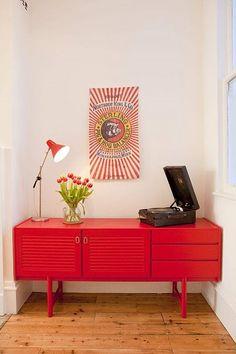 red vanity idea