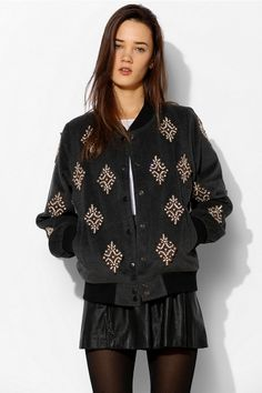 Sister Jane Ice Crystal Bomber Jacket so ugly it's cute