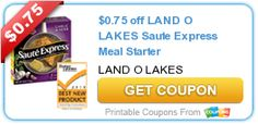 $0.75 off LAND O LAKES Saute Express Meal Starter