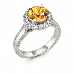 Citrine Engagement Ring #citrine