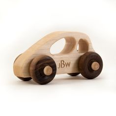 wooden toy car personalized toddler kids car by littlesaplingtoys, $15.00