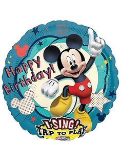 Our Singing Mickey Mouse Balloon wants to join the jamboree! Singing Mickey Mouse Balloon features Mickey Mouse and sings 'Happy Birthday To You. Mickey Mouse Party Supplies, Mickey Mouse Parties, Mickey Party, Birthday Songs, Singing Happy Birthday, Third Birthday, Birthday Ideas, Happy Birthday Mickey Mouse, Disney Mickey Mouse Clubhouse