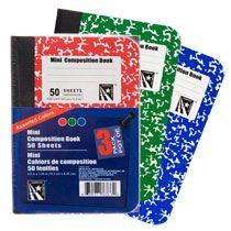 Open and out in stockings, buy a lot. Can be used for lists, phone numbers, address, etc. . . . Bulk 50-Sheet Mini Composition Notebooks, 3-ct. Packs at DollarTree.com