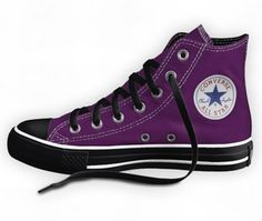 black and purple converse
