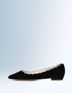 scallop point toe ballet flat