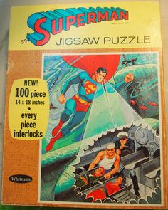 Superman XRay Eyes Jigsaw Puzzle 1965 Complete by TheTwistedCrafts, $21.00