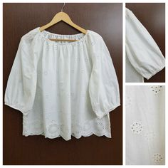 Hurry before stock runs out: White Floral Cut ..., visit http://ftfy.bargains/products/white-floral-cut-work-on-off-shoulder-top?utm_campaign=social_autopilot&utm_source=pin&utm_medium=pin  #amazing #affordable #fashion #stylish