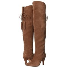 Vince Camuto Cherline (Valleywood Verona) Women's Boots (305 CAD) ❤ liked on Polyvore featuring shoes, boots, over-the-knee boots, suede thigh-high boots, over-the-knee suede boots, suede knee-high boots, faux suede over the knee boots and knee high heel boots