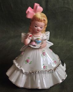 Vintage Josef Originals Figurine- Beautiful Party Girl- AS IS