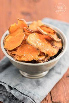 Suesskartoffelchips aus Backofen
