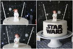 Leia cake at a Star Wars birthday party! See more party planning ideas at CatchMyParty.com!