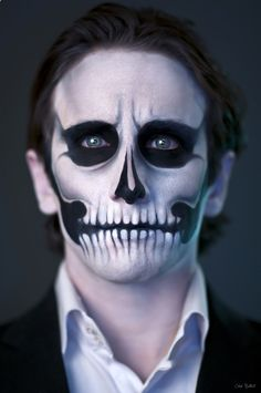 Amazing scary robot makeup