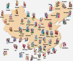 Las 55 etnias minoritarias de China