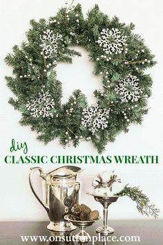 DIY Christmas Wreath : DIY Classic Christmas Wreath-