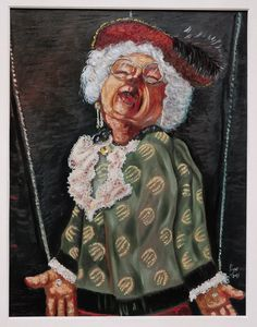 "Saatchi Online Artist: paolo figar; Oil, 2013, Painting ""estasi di Miss Marple"""