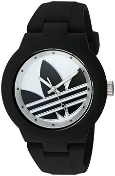 adidas Women's 'Aberdeen' Quartz Plastic and Silicone Automatic Watch, Color:Black (Model: -- For more information, visit image link.