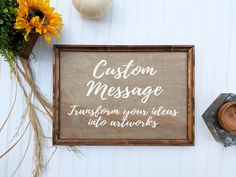 Medium Custom Signs Wood, Personalized Sign, Christmas Gift, Custom Wedding Signs, Anniversary and E Custom Wood Signs, Rustic Signs, Rustic Bathroom Decor, Rustic Decor, Kitchen Decor, Bedroom Decor, Custom Wedding Gifts, Hand Painted Signs, Wood Patterns