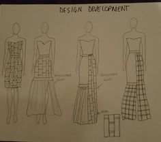 My inital sketch development . The initial design was a geometric design with prisms. I then looked at the wearability of my design and further developed it before coming up with the final idea Liberty Fashion, Competition, Initials, Sketch, Fashion Design, Sketch Drawing, Sketches, Tekenen, Draw