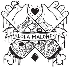 Lola Malone - Summer T-Shirts by Greg Darroll , via Behance