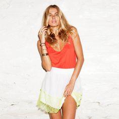 (68) Fab.com | Lace Skirt White