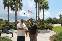 The Police Hall of Fame and Museum in Florida has been using Drunk Busters Goggles since 2011 in a hands-on exhibit.  Curt Kindschuh, founder of Drunk Busters of America pictured with Barry Shepherd, Executive Director of the museum