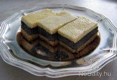 Mákos - tejfölös kocka Poppy seed - sour cream slice
