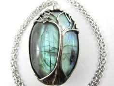 the forest spirit  large labradorite pendant  by callistojewelry