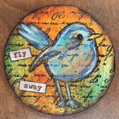 Click to view original Atc Cards, Bird Cards, Art Trading Cards, Kids Art Class, Cd Art, Artist Card, Watercolor Cards, Mail Art, Art Journals