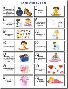 #affiche #facile #organisation #habitude #enfant