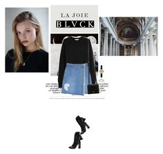 """BL▲CK"" by iolitte ❤ liked on Polyvore featuring Helmut Lang, Chloé, SJYP, Barbour and Maiyet"