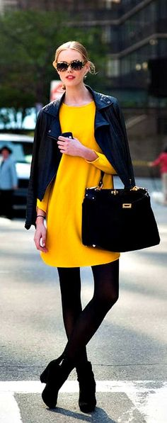 Yellow and black - so glam!
