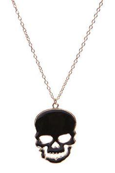Halloween Zoey Skull Oversized Pendant from BooHoo