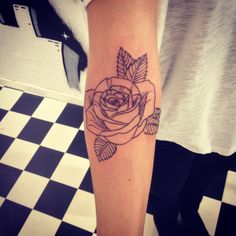 Design and tattoo by me. Simple rose tattoo