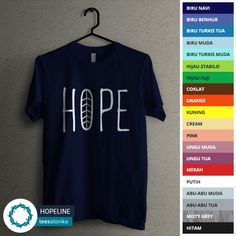 'Hopeline' — Kaos rohani Kristen Protestan / Katolik. Size lengkap, mulai dari kaos anak sampai kaos dewasa. Bisa kompakan bareng sahabat, pasangan dan keluarga. All items ready stock. — Info/order: BBM (5EA8DA88) / 08811575513 (WA / SMS).