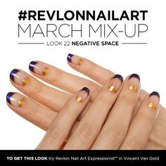 LOVE this navy and metallic combo! March Mix-Up is Negative Space. One nail polish shade is never enough. Fancy Nails, Cute Nails, Moon Manicure, Negative Space Nails, Different Color Nails, Exotic Nails, Modern Nails, Dream Nails, Cute Nail Designs