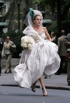 Pin for Later: 43 Style Lessons We Learned From Carrie Bradshaw You Don't Choose Your Wedding Dress, It Chooses You