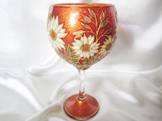 Hey, I found this really awesome Etsy listing at https://www.etsy.com/listing/180748568/daisies-and-wild-oats-hand-painted-glass