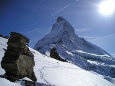 One of the most famous mountains in the world: Switzerland's Matterhorn