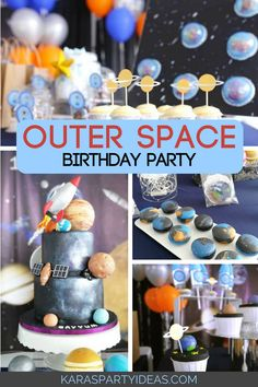 what's in outer space 5th Birthday Party Ideas, 1st Boy Birthday, Boy Birthday Parties, Birthday Party Decorations, Astronaut Party, Outer Space Party, Macarons, Space Facts, Space Travel