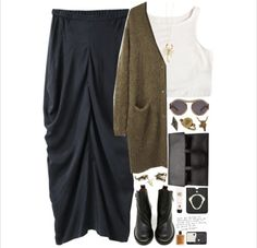 Hipster Fall Maxi Skirt Outfit