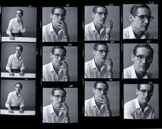 Incredible contact sheet - Bill Evans by Donald Silverstein