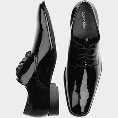 Calvin Klein Gareth Black Patent Tuxedo Shoes | Men's Wearhouse
