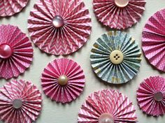 Pink paper rosettes