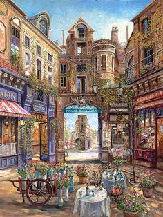 European plein air dining ~ Passage de L'Ancien by Vadik Suljakov
