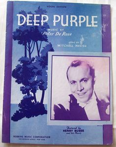 """Original 1939...Not Nino Tempo and April Stevens but the first.    """"When the deep purple falls over sleepy garden walls,  And the stars begin to twinkle in the night....."""""""
