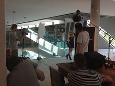 EWE on set with Davide Silvi photographer @ecoarea