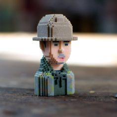 Yue WU #LEBLOX #PixelArt #3Dprinting #Tribute
