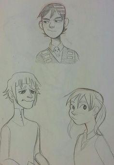 Did I ever post these nerdos I drew