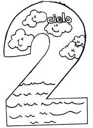 Gods Creation Coloring Pages Day 2