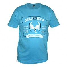 Fan de rugby ? Casse les codes. Impose ton style avec ce tee-shirt rugby Deof turquoise signé Rudby.